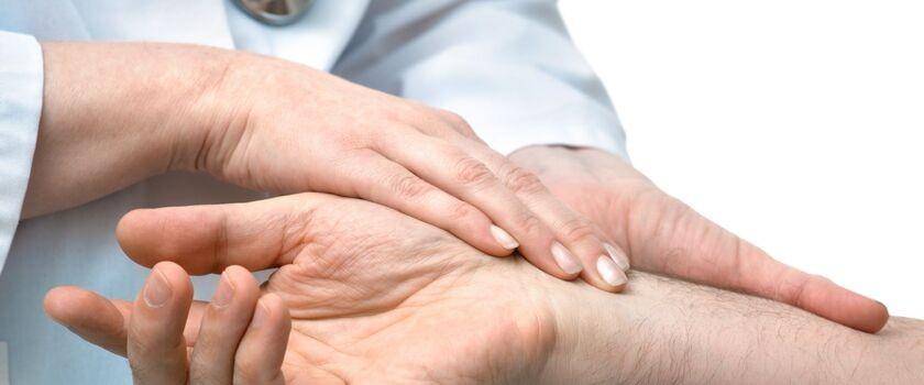 Zapalenie nerwu łokciowego w okolicy nadgarstka - zespół ciasnoty kanału Guyona