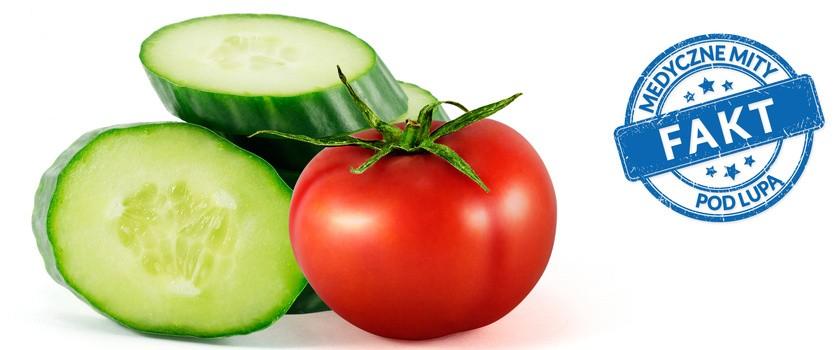 Nie wolno łączyć pomidora z ogórkiem