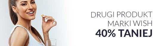 Drugi produkt marki Wish 40% taniej