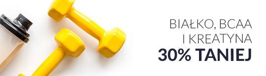 Białko, BCAA i Kreatyna 30% taniej
