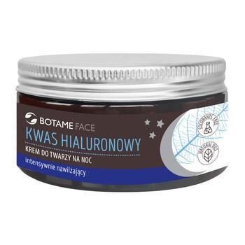 Botame Face, intensywnie nawilżający krem do twarzy na noc z kwasem hialuronowym, 100 ml