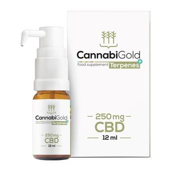 CannabiGold Terpenes+, 250 mg CBD, krople, 12 ml