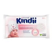 Cleanic Kindii, Ultra Sensitive, chusteczki nawilżane dla niemowląt i dzieci, 60 szt.