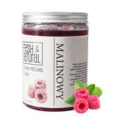 Fresh&Natural, cukrowy peeling do ciała, malinowy, 1000 g