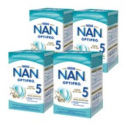 Zestaw 4x Nestle Nan Optipro 5, mleko modyfikowane Junior dla dzieci po 2,5 roku 800 g