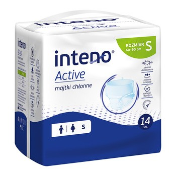 Inteno Active Majtki chłonne, S, 14 szt.