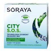 Soraya CITY S.O.S., ultranawilżający krem-kompres na noc, do każdego rodzaju skóry, 50 ml