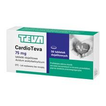 Cardioteva, 75 mg, tabletki dojelitowe, 56 szt.