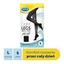 Scholl Light Legs, rajstopy uciskowe, rozmiar L, czarne