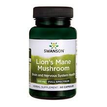 Swanson Full Spectrum Lion's Mane (Soplówka jeżowata), 500 mg, kapsułki, 60 szt.