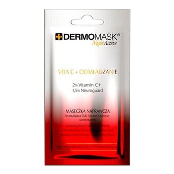 Dermomask Night Active, Vita C+Odmłodzenie, maseczka naprawcza, 12 ml, 1 saszetka