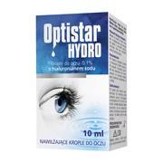 Optistar Hydro, nawilżające krople do oczu z hialuronianem sodu 0,1%, 10 ml