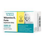 Witamina D3 Forte, 2000 IU, kapsułki miękkie, 60 szt.