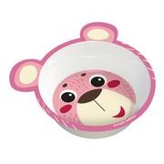 Canpol Hello Little, miseczka z melaminy dla dzieci, różowa, 1 szt.