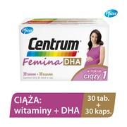 Centrum Femina 1 DHA, 30 tabletek + 30 kapsułek