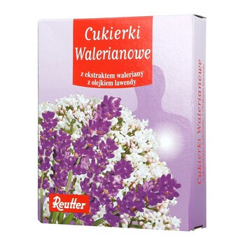 Cukierki Walerianowe, z ekstraktem waleriany i olejkiem lawendy, 50 g