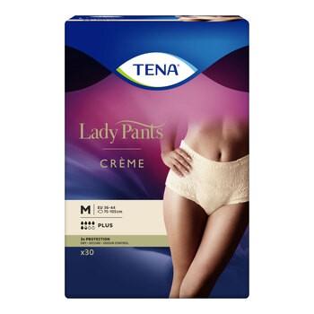 Majtki chłonne TENA Lady Pants Plus Creme, rozmiar M, 30 szt.