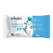 Pikabu Baby Care, chusteczki nawilżane Pure, 60 szt