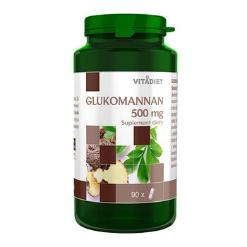 Glukomannan, 500 mg, kapsułki, 90 szt.