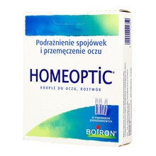 Boiron Homeoptic, krople do oczu, 0,4 ml, 10 szt.