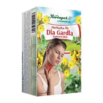 Herbatka Dla gardła, fix, saszetki, 2 g, 20 szt. (Herbapol Kraków)