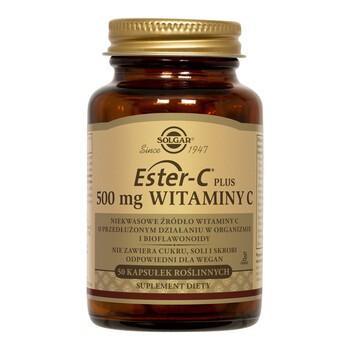 Solgar Ester-C Plus, 500 mg witaminy C, kapsułki, 50 szt.