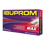 Ibuprom Max, 400 mg, tabletki drażowane, 24 szt.