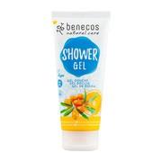 Benecos Natural, żel pod prysznic Rokitnik i Pomarańcza, 200 ml