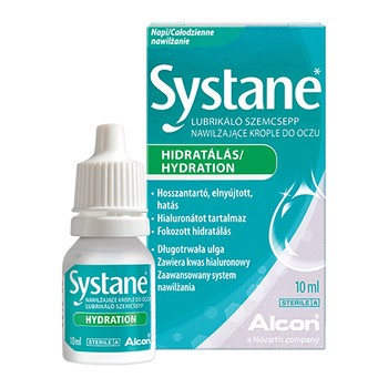 Systane Hydration, nawilżające krople do oczu, 10 ml