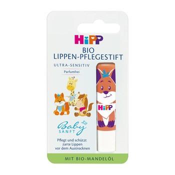 HiPP BIO Babysanft Ultra Sensitive, pielęgnacyjna pomadka do ust, 4,8 g