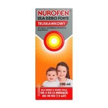 Nurofen dla dzieci Forte truskawkowy, 40 mg/ml, zawiesina doustna, 100 ml