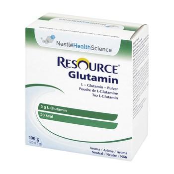 Resource Glutamin, proszek, smak neutralny, 100 g (5 g x 20 saszetek)