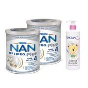 Zestaw 2x Mleko Nan Optipro Plus 4 + żel Linomag