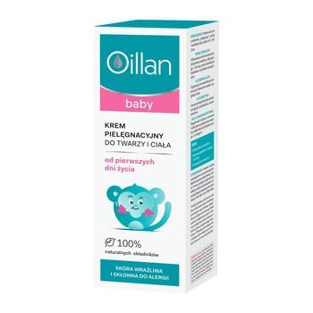 Oillan Baby, krem pielęgnacyjny do twarzy i ciała, 75 ml