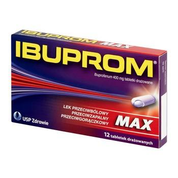 Ibuprom Max, 400 mg, tabletki drażowane, 12 szt.