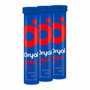 Zestaw 3x Oryal Max, tabletki musujące, smak malinowy, 15 szt.