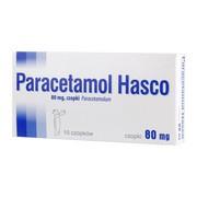 Paracetamol Hasco, 80 mg, czopki, 10 szt.