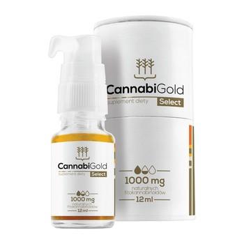 CannabiGold Select 1000 mg, krople, 12 ml