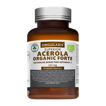 Singularis Acerola Organic Forte, 520 mg Superior, kapsułki, 60 szt.