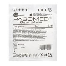 Gaza jałowa, bawełniana, 17 nitkowa, 1 m2, 1 szt. (Paso Pasomed)