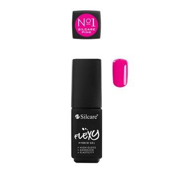 Silcare Flexy Hybrid Gel, lakier hybrydowy Pink No.1 Magenta, 4,5g