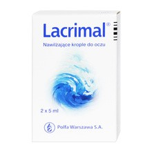 Lacrimal, krople do oczu, nawilżające, 2 x 5 ml