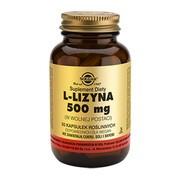 Solgar L-Lizyna, 500 mg, kapsułki, 50 szt.