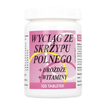 Wyciąg ze skrzypu polnego+drożdże+witaminy, tabletki, 100 szt.
