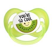 Canpol SoCool, silikonowy smoczek uspokajający, zielony, 18m+, 1 szt.