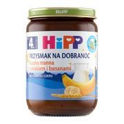 HiPP BIO, kaszka manna z mlekiem i bananami, po 4. miesiącu, 190 g