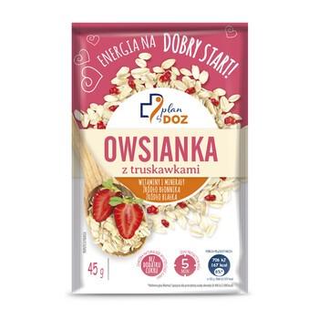 Plan by DOZ Owsianka z truskawkami, 45 g