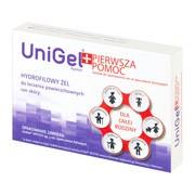 UniGel Apotex Pierwsza pomoc, zestaw, żel, 5 g + opatrunek