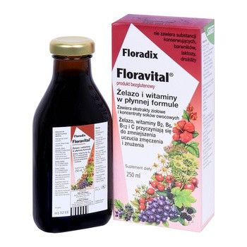 Floradix Floravital, płyn, 250 ml