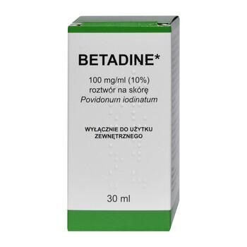 Betadine, 100 mg/ml, roztwór na skórę, 30 ml (import równoległy, Delfarma)